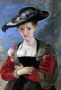 Rubens Digital Art Metal Prints - Le Chapeau De Paille Metal Print by Peter Paul Rubens