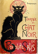 Le Cat Framed Prints - Le Chat Noir Framed Print by Nomad Art And  Design