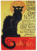 Le Cat Framed Prints - Le Chat Noir Framed Print by Patricia S
