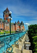 Quebec Photos - Le Chateau Frontenac by Mel Steinhauer