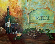 Villa Paintings - Le Chateau by Tamyra Crossley