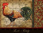 Coq Paintings - Le Coq-C by Jean Plout