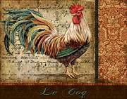 Coq Framed Prints - Le Coq-G Framed Print by Jean Plout