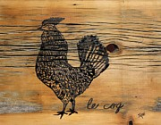 Kitchen Wall Originals - Le Coq by Janice Rae Pariza