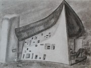 Religious Drawings Originals - Le Corbusier by Thomasina Durkay
