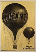Flights Framed Prints - Le Geant Ballon Framed Print by Nomad Art And  Design