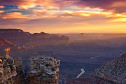 Grand Canyon Photos - Le Grand Sunrise by Darren  White