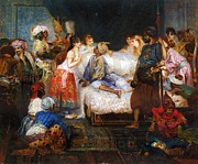 Harem  Paintings - Le Harem by Pg Reproductions