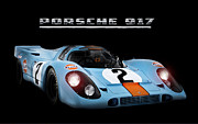 Steve Mcqueen Framed Prints - Le Mans King Framed Print by Peter Chilelli