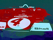 Laguna Seca Prints - Le Mans Racing Car Detail Print by Irina  March
