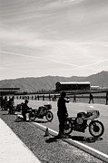 Antique Harley Davidson Photos - Le Mans Start by Marley Holman