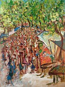Marketplace Painting Prints - Le marche de Toulon - Original sold Print by Bernard RENOT
