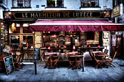 Banquet Prints - Le Marmiton De Lutece Paris France Print by Evie Carrier