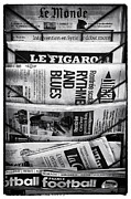 Newspapers Posters - Le Monde Poster by John Rizzuto