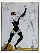 Ballet Framed Prints - Le Pavillion dArmider Framed Print by Georges Barbier