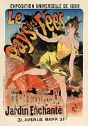 Belle Epoque Framed Prints - Le Pays des Fees Framed Print by Sanely Great