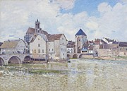 Medieval Paintings - Le Pont de Moret by Alfred Sisley