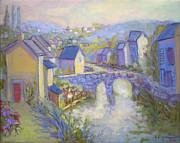 French Door Paintings - Le Port de Dinan by Dorothy Fagan