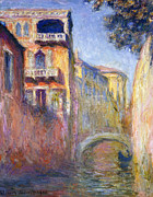 Signed Prints Art - Le Rio de la Salute by Claude Monet