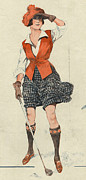 Clothes Clothing Drawings - Le Sourire 1919 1910s France Golf by The Advertising Archives
