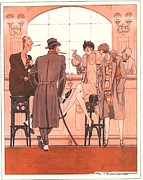 1920Õs Prints - Le Sourire 1920s  France Bars Cocktails Print by The Advertising Archives