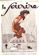 1920Õs Metal Prints - Le Sourire 1926 1920s France Seasons Metal Print by The Advertising Archives