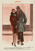 Couples Drawings Posters - Le Sourire 1928 1920s France Womens Poster by The Advertising Archives