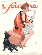 Nineteen Twenties Drawings - Le Sourire 1929 1920s France Glamour by The Advertising Archives