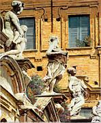 Le Statue Print by Guido Borelli