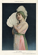 Featured Metal Prints - Le Theatre 1912 1910s France Mlle Metal Print by The Advertising Archives