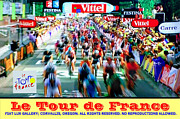 Athletic Digital Art - Le Tour de France by Mike Moore FIAT LUX