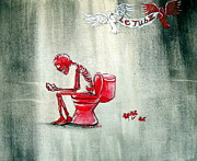 Restroom Prints - Le Tub II Print by Heather Calderon