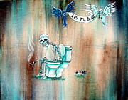 Smoke Painting Prints - Le Tub III Print by Heather Calderon