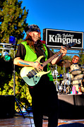 Rock Groups Photo Prints - Lead Guitarist Jimmy Dence - The Fabulous Kingpins Print by David Patterson