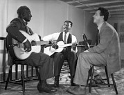 Famous Americans Photos - LeadBelly, Josh White, Nicholas Ray by Underwood Archives