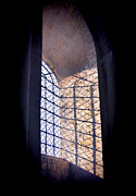 Cloistered Prints - Leaded Window Light Print by Jill Battaglia