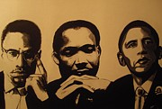 Barack Obama Painting Posters - Leaders Poster by Robert Cunningham