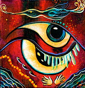 Visionary Art Painting Prints - Leadership Spirit Eye Print by Deborha Kerr