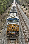 Csx Framed Prints - Leading A Long Line Framed Print by Tim Wilson