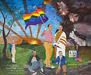 Pride Paintings - Leading Obama Left by Mark Robbins