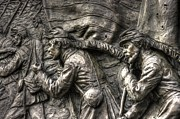 Aotp Posters - Leading the Way.  State of Delaware Monument Detail-J Gettysburg Autumn Mid-Day. Poster by Michael Mazaika