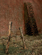 Old Fence Posts Metal Prints - Lean Into It Metal Print by Odd Jeppesen
