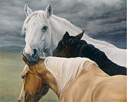 Saddle Paintings - Lean On Me by Michelle Grant