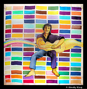 Musician Tapestries - Textiles - Lean on to me by Nandy King