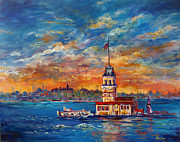 Leander Framed Prints - Leanders Tower  Istanbul Framed Print by Lou Ann Bagnall