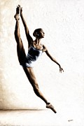 Ballerina Dancing Posters - Leap of Faith Poster by Richard Young