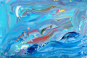 Denise Laurent - Leaping Fish Blue...