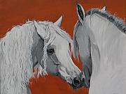 Horse Original Paintings - Learn to know you by Janina  Suuronen