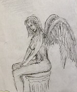 Angel Drawings - Learning by Robin Kirkpatrick