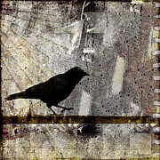 Crow Collage Prints - Learning to Navigate Print by Carol Leigh